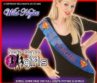 FANCY DRESS ACCESSORIES ~ SUPERGIRL HEN PARTY SASH